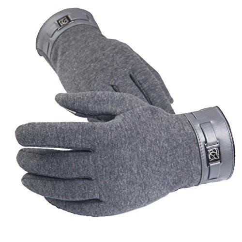 Malloom® invierno hombre antideslizantes térmicas Smartphone completa dedo Pantalla táctil Cashmere Guantes mitones