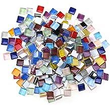ROSENICE Tarjetas de Mosaico Mixtos para la artesanía Cristal Materiales para Mosaico 10 ...