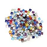 ULTNICE 10mm Petits carreaux de mosaïque pour artisanat Mosaïque en cristal mélangé (dix couleurs)...