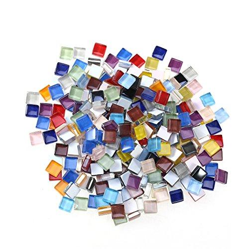 ULTNICE 10mm Petits carreaux de mosaïque pour artisanat Mosaïque en cristal mélangé (dix couleurs) ULTNICE