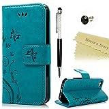 Mavis's Diary iPhone 5 5s/SE Hüllen Blau Retro Design PU