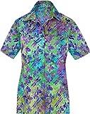 LA LEELA entspannte Freizeitkleidung Strand Hawaii Hemd Türkis_AA148 L - DE Größe :- 46-48