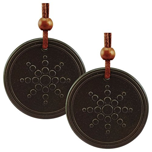 Magnaz Combo Pack Of 2 Quantum Scalar Energy Pendant Unisex Black Pendant Made From Lava