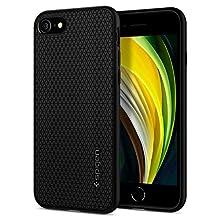Spigen Liquid Air, Designed for iPhone 7/8/SE 2020 Case, Ergonomic Grip Pattern Etched Case for iPhone 7/8/SE 2020 - Black