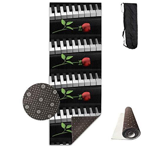 Bag shrot Yoga Mat Non Slip Piano 24 X 71 Inches Premium Fitness Exercise Pilates Carrying Strap - Pro-lite Cap
