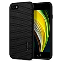 Spigen Liquid Air designed for iPhone SE (2020) case/iPhone 8 / iPhone 7 cover - Matte Black
