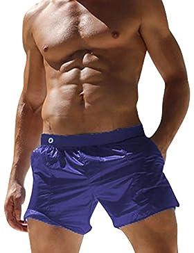 DianShaoA Pantalones De Natación para Hombre Casual Deporte Pantalones Cortos Slim Wear con Bolsillo