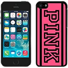 Iphone 5c Case Custom Design Victoria's Secret Love Pink 43 Protective Cell Phone Cover Case for Iphone 5c Black