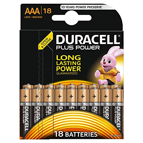 Duracell Plus Power Typ AAA Alkaline Batterien, 18er Pack