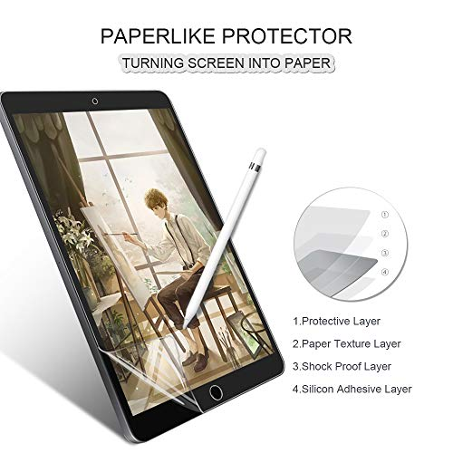 Goldwire Matte Screen Protector Compatible for iPad 9.7 Air 1/Air 2, iPad Pro 9.7, Compatible with Apple Pencil,Anti Glare/Anti Fingerprint/Scratch Resistant/Paper Texture