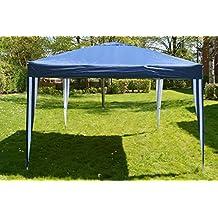 Carpa 3x 3m/Fiesta Carpa Pabellón plegable, color azul