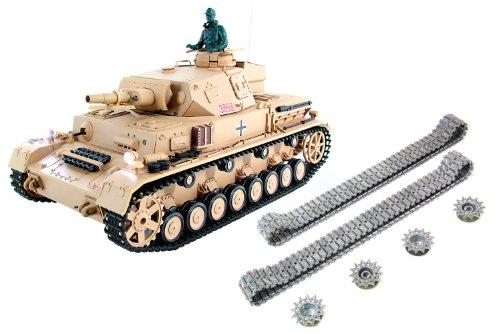 XciteRC 35512000 Ferngesteuerter RC Panzer Modellpanzer DAK Kampfwagen IV F-1 - Ready to Race Professional 1:16