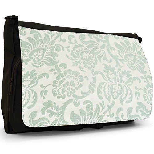 Fancy A Bag Borsa Messenger nero Elegant Green Floral Design