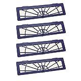 4 Stück High-Performance Hepa Filter für Neato BotVac D Serie D80 D85 D75 , BotVac Connected D3 D5 und alle Neato Botvac Typen 70, 70E, 75, 75E, 85, 85E Ersatzteile und Zubehör