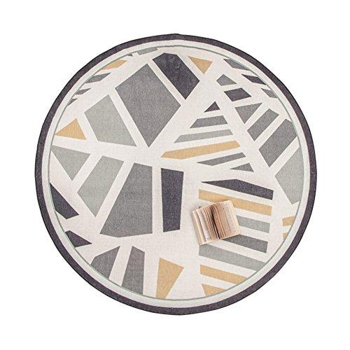 tric Round Teppich Wohnzimmer Hanging Basket Kissen Haushalt Teppich Schlafzimmer Tisch pad Computer schwenkbare Stuhl Decke-A 200x200cm(79x79inch) ()