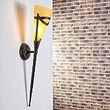 Wandfackel für stimmungsvolles Licht  Wandleuchte inklusive Leuchtmittel E14 40Watt