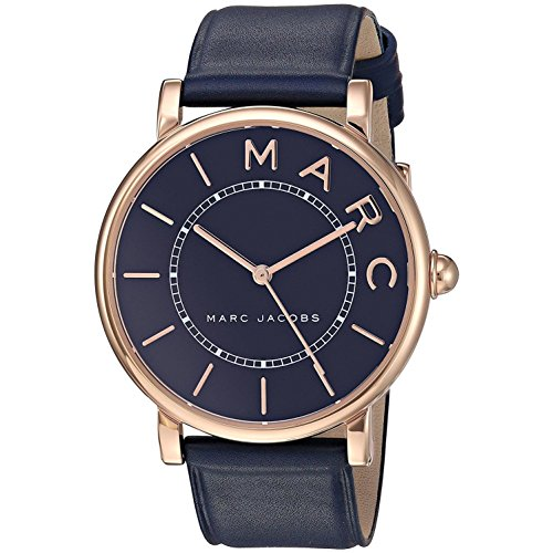 Marc Jacobs Women's 36mm Blue Calfskin Band Steel Case Quartz Watch MJ1534