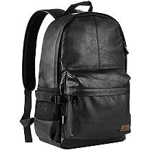 """Koolertron Casual Escuela Unisex Moda Vintage Mochila para acampar Viaje portátil (14 """") / Acer Aspire MacBook iPhone iPad y Samsung Tablet (Negro)"""