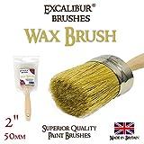 Excalibur Cire Brosse 5,1cm (50mm) Style shabby chic de cire. fait à la main en Grande-Bretagne