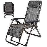 Deckchairs Duo Recliners-Klappstuhl-Mittagspause-faltender Aufenthaltsraum-Stuhl-im Freien Übergroßer Schwerelosigkeits-Klubsessel mit Kissen (Farbe : B)