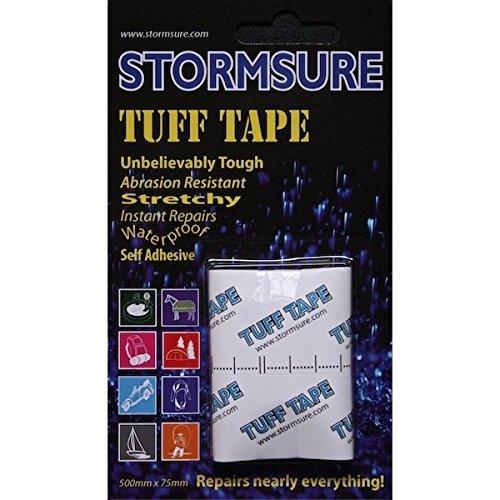 Stormsure Tuff Tape - transparent und selbstklebend für Reparatur-Arbeiten an vielen Materialien