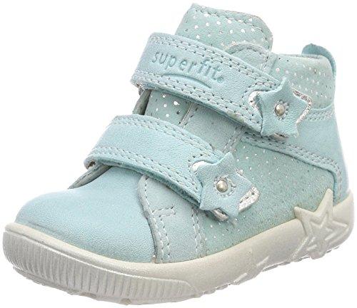 Superfit Baby Mädchen Starlight Sneaker, Blau (Aqua Kombi), 21 EU -