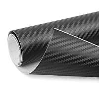 uxcell a18010800ux0170 1 Pack 3D Carbon Fiber Bubble Free Stretchable Car Vinyl Film Sticker 152 x 60cm Black