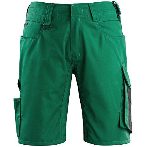 Mascot kurze Arbeitshose mit Cargotasche Grün/schwarz