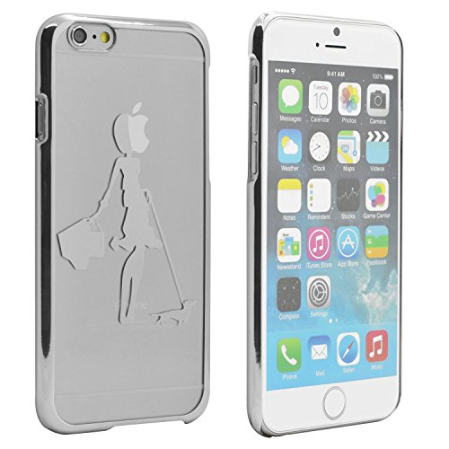 iProtect Schutzhülle Apple iPhone 6, 6s (4,7'') Hülle Totenkopf Skull Star Design in schwarz Silber Hund