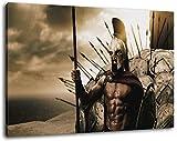 300 rise of an empire Format 120x80 cm Bild auf Leinwand, XXL riesige Bilder fertig gerahmt mit Keilrahmen, Kunstdruck auf Wandbild mit Rahmen