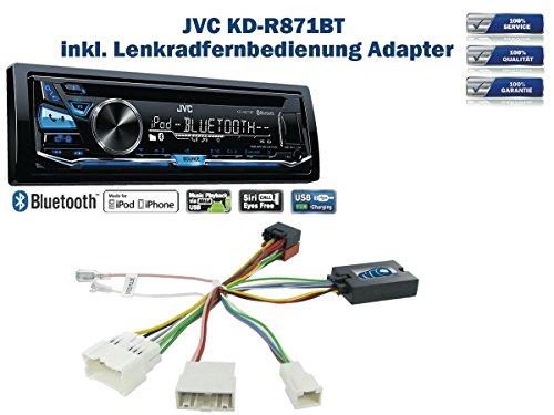 JVC KD-R871BT inkl. Lenkrad Fernbedienung Adapter Dacia Duster/Logan/Lodgy/Dokker/Sandero