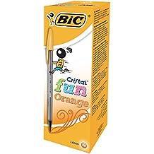 BIC Cristal Fun bolígrafo naranja 1.6mm [Pack de 20]