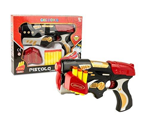 Media wave store pistola lancia dardi cigioki laser 394915 con 6 colpi in spugna e bersaglio