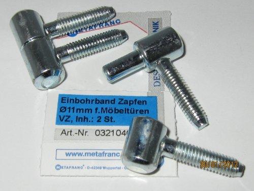 Preisvergleich Produktbild Einbohrband f. Möbeltüren, verzinkt,Zapfen Ø 11 mm, 2 Stk., 0321046