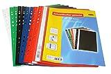 Idena 307862 - Schnellhefter A4 gelocht, aus Kunststoff, 30 Stück, 5 Farben, 6 x blau/grün/rot/weiß/schwarz (30, A4)
