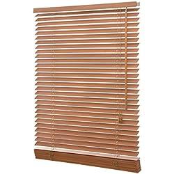 Ventanara Holzjalousie 35mm eiche Holz Jalousie Jalousette Echtholz 120 x 130 cm