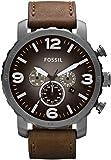 Fossil Herren-Armbanduhr XL Chronograph Quarz Leder JR1424