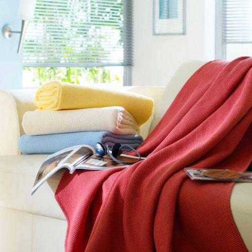 Dormisette Bettwaren-Shop, Decke aus Baumwollpikee 150x210 cm Natur
