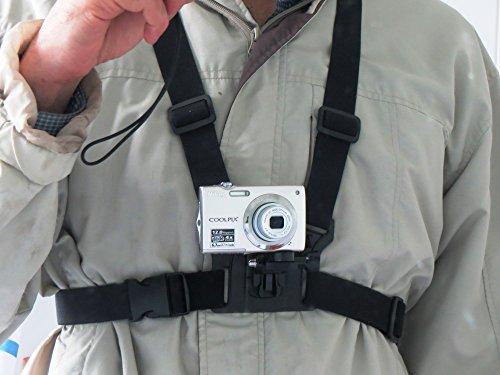 Designo Brust Körper Gurt Mount für Digitalkameras Halter zu verwenden wie Action Kameras passt universal Canon Nikon Sony Samsung Olympus Vivitar dvr783hd GoPro 4Gee Vivitar Digital Cam