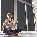 verspiegelte Sonnenschutzfolie für Fenster,selbstklebend, Sichtschutz und Hitzeschutz (blockt 99% der UV-Strahlen), Spiegelfolie,Wärmeschutz, silber schwarz, fancy-fix,76cm x 300cm
