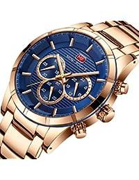 XKC-watches Relojes de Mujer, Mini Focus Mujer Reloj Deportivo Japonés Cuarzo Acero Inoxidable