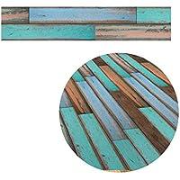 5M adhesivo de madera de grano de piso de papel de contacto que cubre el PVC decorativo extra¨ªble pel¨ªcula de papel pintado pegatinas