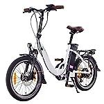 NCM-Paris-Bicicletta-elettrica-Pieghevole-250W-Batteria-36V-15Ah–540Wh-Bianco