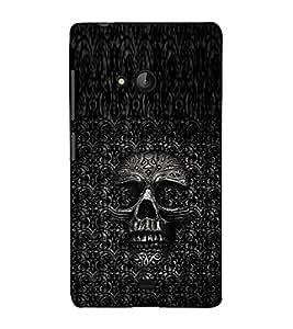 Fuson Designer Back Case Cover for Microsoft Lumia 540 Dual SIM (The skeletal theme)