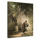 Bilderdepot24 Kunstdruck - Alte Meister - Carl Spitzweg - der Blumenfreund - 30x40cm Einteilig - Leinwandbilder - Bilder als Leinwanddruck - Bild auf Leinwand - Wandbild