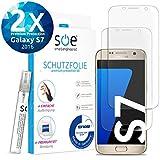 2 Stück] 3D Schutzfolien kompatibel mit Samsung Galaxy S7 - [Made in Germany - TÜV] - Hüllenfre&lich - Transparent - Selbstheilend - kein Glas oder Panzerglas sondern Panzerfolie TPU