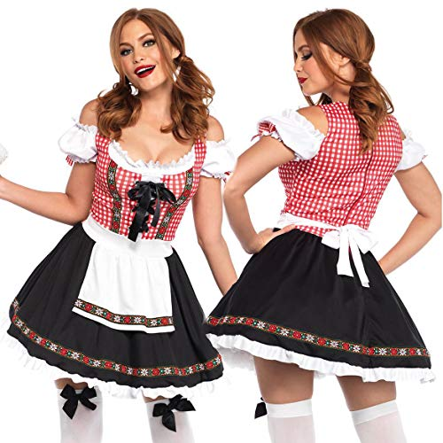 exy Kostüm,Frauen Bier Mädchen German Fancy Maid Dress ()