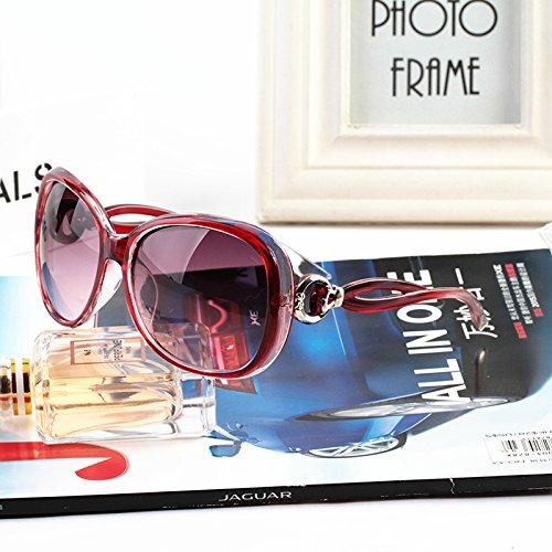 , eleganten neuen persönlichkeit, sonnenbrille, meine sonnenbrille, die flut sterne, brille, rundes gesicht, koreanische retro - augen,Transparent rot (stoff)