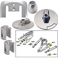 Tecnoseal ánodo Kit w/Hardware–Mercury Bravo 32004–aluminio - 20805AL