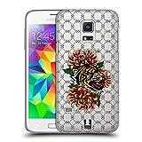 Head Case Designs Tiger Druck Modische Patches Ruckseite Hülle für Samsung Galaxy S5 Mini